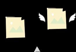 画像の拡張子をwebpに変換するイメージ
