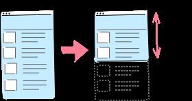 画像の遅延ロード処理のイメージ