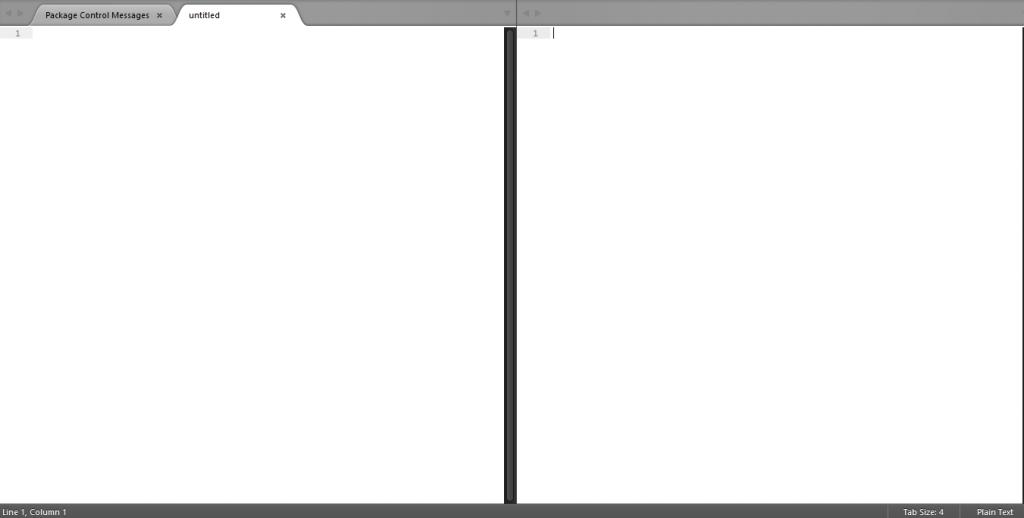 sublime text 画面分割 横