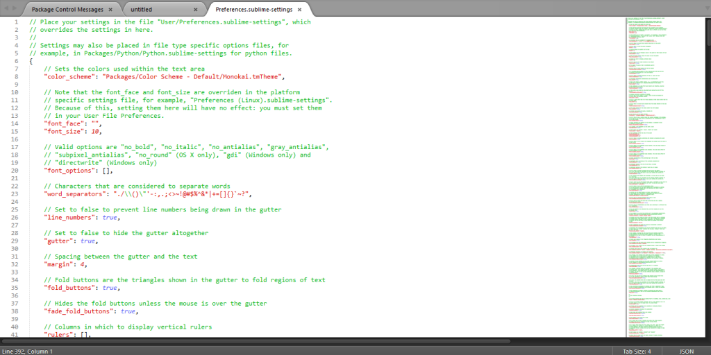 sublime text 詳細設定