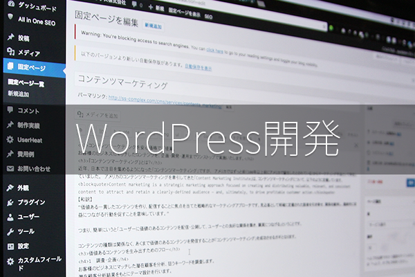 WordPress開発