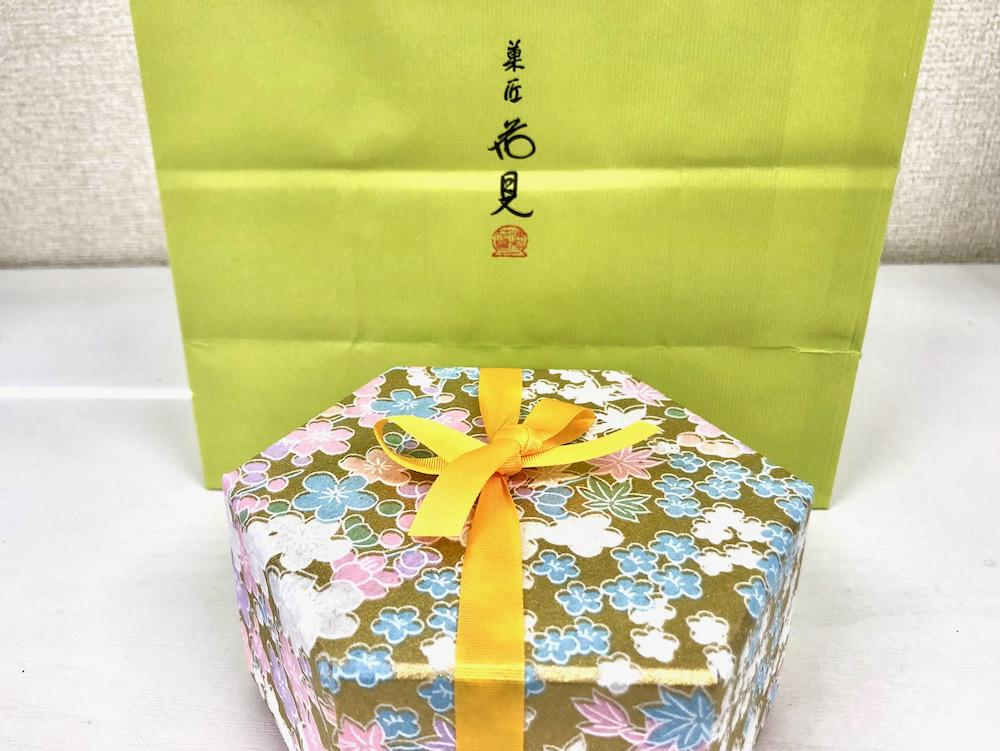 白鷺宝の化粧箱と紙袋