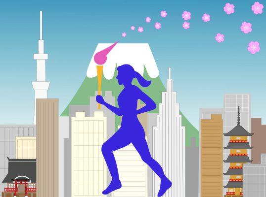 東京2020オリンピックの聖火ランナー